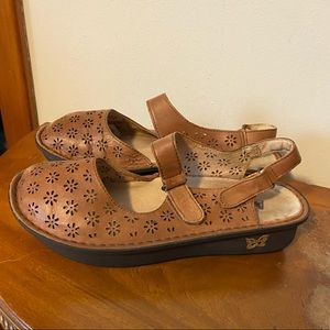 Alegria Jem-647 Tan Leather Shoes Sandals Sz 39